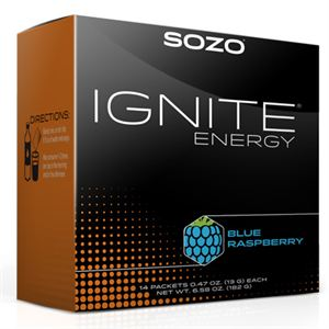 Picture of Ignite Energy Powder - Blue Raspberry (14 packets)